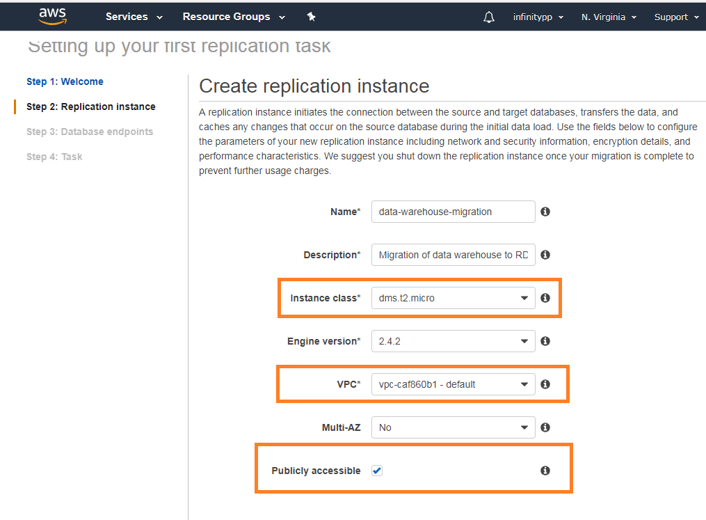 7fa18c62a5327 AWS Database migration service for MySQL databases tutorial | Infinity++
